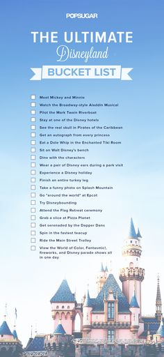 We put together a list of must-do Disney experiences that go beyond the ordinary agenda of theme park rides and cartoon films. And once youve completed them all you can undoubtedly call yourself a Disney fan. - Travel Orlando - Ideas of Travel Orlando Disney Parks, Walt Disney World, Disney Tips, Disney Fun, Disney Magic, Disney Secrets, Disney Stuff, Disney 2017, Disney Films List Of