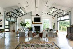 Barn Living, Home Living Room, Living Spaces, Living Area, Metal Building Homes, Building A House, Building Ideas, Metal Homes, Building Plans