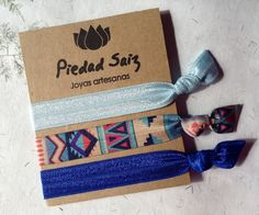 Pack  3 gomas elásticas, Hair ties, coleteros glam de Gemasymas por DaWanda.com