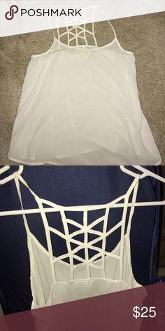 White flowy summer shirt White cute summer shirt Topshop Tops Tank Tops