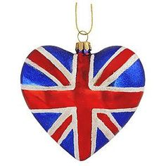 Union Jack - Heart Ornament