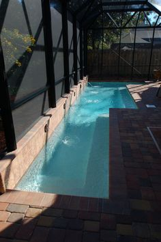 Pool Construction and Remodeling Gallery | Long Narrow Lap Pool Anderson