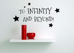 To Infinity And Beyond Letter Word Art Vinyl Decal Living Wall Quote Sticker #Metohill #SoildColor