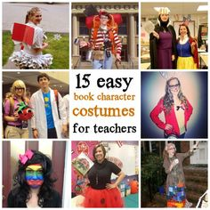 15 easy book character Halloween costumes for teachers