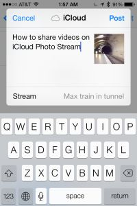 This is so cool!!! Now you can share videos in shared photo streams with iOS 7! This even works as a cloud based backup for videos that you put into a shared photo steam. Here is how...