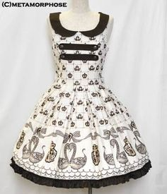 Swan Lace Pinafore Dress with Collar (Antique White)