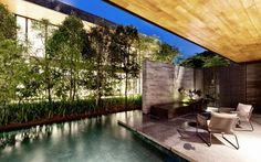 Modern Stone House with Huge Central Courtyard by FARM   DesignRulz.com