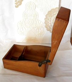 $30.00 Vintage Shaw Walker Wood Index Card File Box with by peppercorns2, $30.00