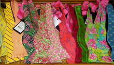 Lilly Bow Ties #LillyPulitzer #SouthernWeddings