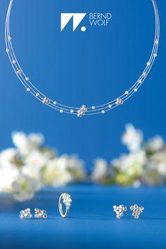 Das Schmuckset Lenia in silber mit schimmernden weißen Süßwasserperlen ergänzt Dein Brautkleid perfekt! #wedding #berndwolf #Hochzeit #Brautschmuck #Heiraten #jewelry #Schmuck #LieblingsSchmuck