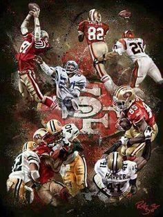 "The four 49ers ""Catches"" Dwight Clark - John Taylor -Terrell Owens - Vernon Davis"