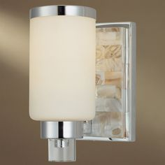 Mother of Pearl Backplate Sconce - 1 Lt. pearl