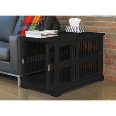 The main thing I like about this crate is the way the door slides in to tuck away easily.  Wayfair.com - Online Home Store for Furniture, Decor, Outdoors & More