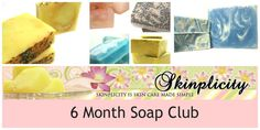 Handmade Soap 6 month  SOAP Club Subscription by Skinplicity, $54.00