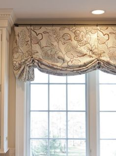 balloon valance taupe and ivory.. custom window treatments shipping to you DesignNashville.com