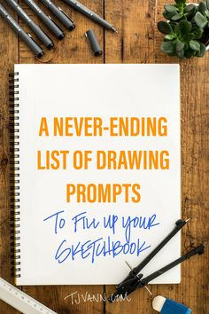 A Never-Ending List of Drawing Prompts to Fill Your Sketchbook