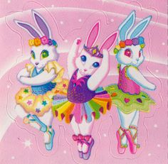 Totally had these bunnies on a folder in elementary school.