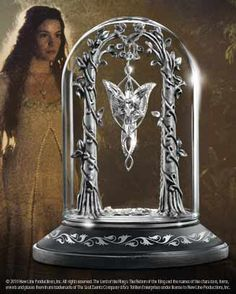 I actually own this...and the Evenstar necklace as well.    The Evenstar Pendant Display   A beautiful display created to showcase the Evenstar Pendant of Arwen. Crafted in wood and fine pewter with a clear glass dome.