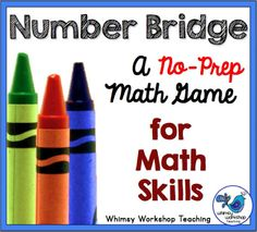 Quick and easy No-Prep Math Game to use with any grade level. Perfect if you have 10 minutes to spare - you only need paper and crayons to review any skill! Whimsy Workshop Teaching Ideas