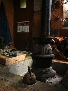 Japanese old style stove , potbelly stove