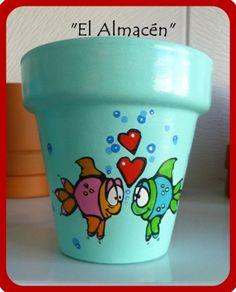 """""""El arte es, sobre todo, un estado del alma"""". Painted Tires, Painted Pavers, Painted Clay Pots, Painted Flower Pots, Flower Pot Art, Flower Pot Design, Flower Pot Crafts, Clay Pot Crafts, Flower Pot People"""