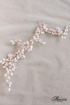 SALE Rose Gold wedding Hair Vine Wedding Wreath Bridal