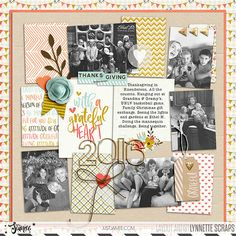 digital scrapbook layout  created with Grateful kit and journal cards by Just Jaimee