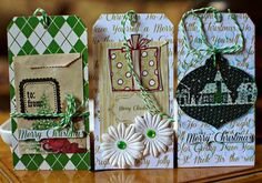 Christmas tags using Creating Made Easy December Kit by Adora. www.clearscraps.com