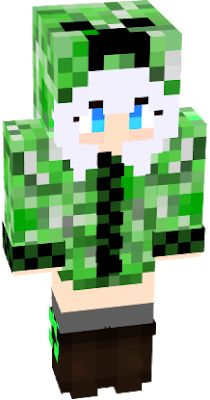 an anime creeper girl Minecraft Skins Creeper, Minecraft Anime, Minecraft Room Decor, Anime Life, Edd, Editing Pictures, Creepers, Kawaii Anime, Avatar