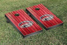 Houston Cougars Weathered Wood w/ Logo Cornhole Board & Bag Set