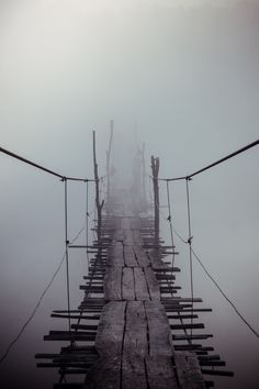 0rient-express:  Foggy bridge | by Evgen Andruschenko.