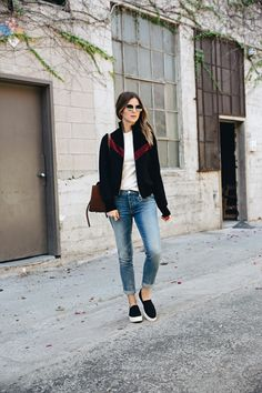 Basic Outfit with Bomber