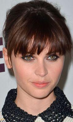 Felicity Jones Worked A Choppy Full Fringe - We Love It! 2011