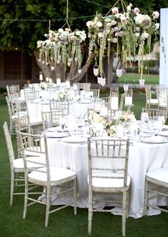 Garden Reception at the Arizona Biltmore Photography: Stephanie Fay… Decoration Inspiration, Wedding Inspiration, Wedding Ideas, Wedding Stuff, Dream Wedding, Decor Ideas, Arizona Biltmore, Chapel Length Veil, Floral Chandelier