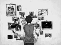 art Black and White anime manga monochrome paint Anime girl anime boy manga girl manga boy manga guy anime guy