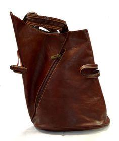 91704ac0db Luxury leather backpack travel bag weekender sports bag gym bag leather  shoulder ladies mens bag satchel original made in Italy red brown