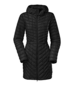 the north face women's thermoball (synthetic insulation) hooded parka in black