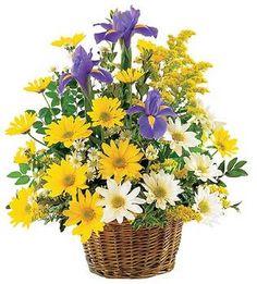 Smiling Spring Basket by @1stinflowers.com #birthday