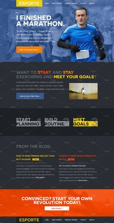 Esporte Fitness Club PSD Template Templates The Esporte Fitness template is a single-page PSD template designed for gyms and other sports/fitnes by Mosaic Web Market Website Design Inspiration, Website Design Layout, Business Brochure, Business Card Logo, Wordpress, Web Studio, Psd Templates, Design Templates, Script Type