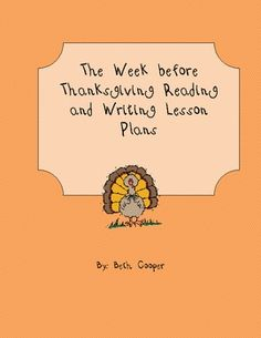 Cookies week writing activity for thanksgiving