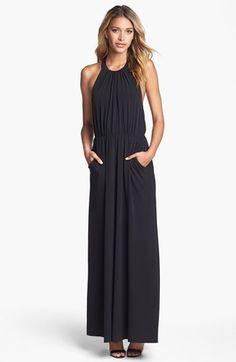 Jessica Simpson Halter Jersey Maxi Dress   Nordstrom