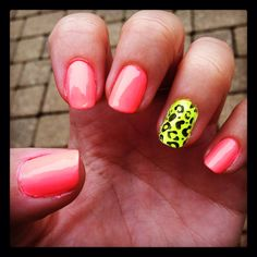 Love my neon nails!
