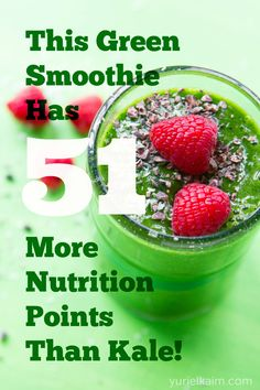 Watercress Smoothie with apple, banana, avocado, raspberries, coconut water Power Smoothie, Juice Smoothie, Smoothie Drinks, Smoothie Recipes, Detox Smoothies, Healthy Recepies, Raw Food Recipes, Low Carb Recipes, Healthy Snacks