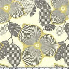 kitchen curtains- Amy Butler Midwest Modern Optic Blossom Linen  Item Number: BI-028 $8.98