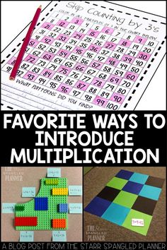 10 Fun Games and Activities to introduce multiplication! Teach students to build fluency, practice strategies hands on, and ultimately memorize their multiplication facts! Perfect for any 2nd, 3rd and 4th grade classroom!