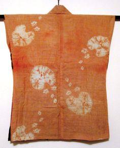 sodenashi shibori safflower dyed - back - Daily Japanese Textile IMG_1732