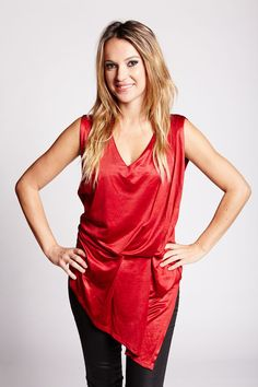 EMMY TOP  by Judy Design Red, Tops, Dresses, Design, Fashion, Moda, Vestidos, Fashion Styles, Shell Tops