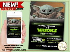 BABY YODA INVITATION, BABY YODA INVITE, THE MANDALORIAN INVITATION, THE MANDALORIAN BIRTHDAY INVITATION, THE MANDALORIAN BIRTHDAY PARTY, BABY YODA INVITATIONS, JEDY INVITATION, BABY YODA BIRTHDAY INVITATION, BABY JODA PARTY, BABY YODA BIRTHDAY, BABY YODA INVITATION, BABY YODA BIRTHDAY INVITATION, BABY YODA PARTY, BABY YODA INVITATIONS, BABY YODA INVITATION Zombie Birthday Parties, Trolls Birthday Party, Moana Birthday Party, Toy Story Birthday, Birthday Party Invitations, Birthday Party Themes, Kid Names, Mandalorian, Invite