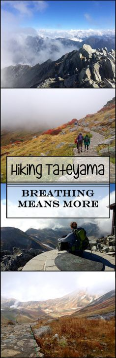 Hiking Mount Tateyama of the Japanese Alps in Toyama Prefecture Japan. Tateyama is one of Japan's 3 holy mountains and is particularly famous for its gorgeous views and fall colors.