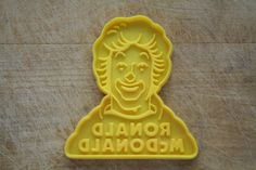 Ronald Mc Donald Yellow Cookie Cutter. Not made by Hallmark, but, I have never seen one before now.